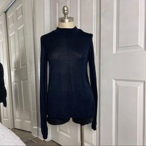 ASOS Dark Blue long Sleeve Light Weight Sweater